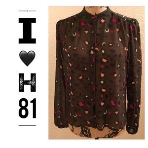 I Love H81 Printed Blouse